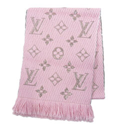 Louis Vuitton M70466 Charp Shine Logo Mania Knit Scarf Rose Ballerine Scarf Ladies