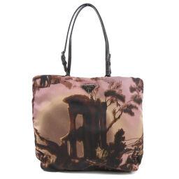 Prada logo plate handbag ladies