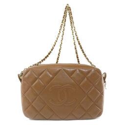 Chanel Coco Mark Gold Hardware Shoulder Bag Ladies
