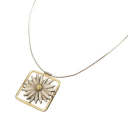 Tiffany flower motif necklace ladies