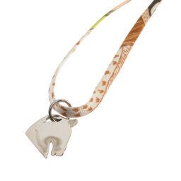 Hermes Choker Tourbillon Horse Motif Necklace Ladies