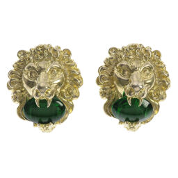 Gucci Lion Motif Earrings Womens
