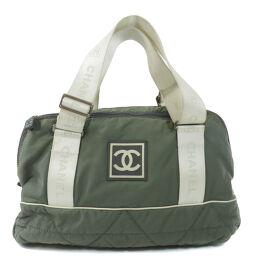 Chanel logo motif Boston bag ladies
