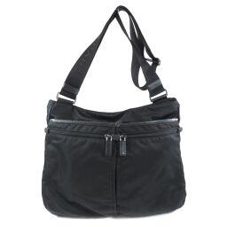 Prada logo plate shoulder bag ladies