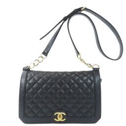 Chanel Coco Mark Matrasse Gold bracket shoulder bag ladies