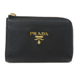Prada Safiano double-fold wallet (with coin purse) ladies