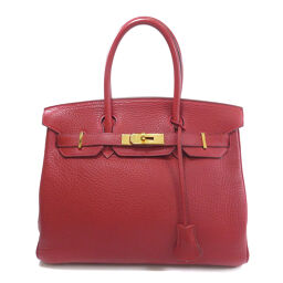 Hermes Birkin 30 Taurillon Rouge Kazak Gold Hardware Handbags Ladies
