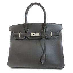 Hermes Birkin 30 Silver Hardware Graphite Handbag Ladies