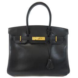 Hermes Birkin 30 Lycee Black Black Gold Hardware Handbags Ladies