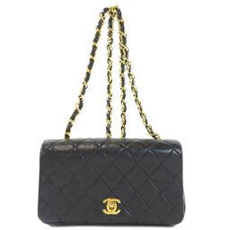 Chanel Coco Mark Matrasse Gold Chain Shoulder Bag Ladies