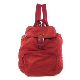 Prada logo plate backpack daypack ladies