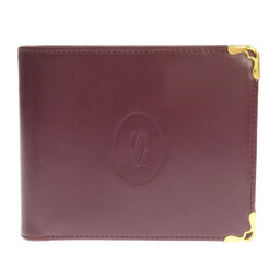Cartier Mast line double-fold wallet (without coin purse) women