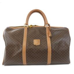 Celine Macadam Pattern Boston Bag Unisex