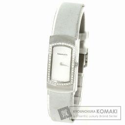 TIFFANY&Co.【ティファニー】 カクテル ダイヤモンド 腕時計 K18ホワイトゴールド/サテン レディー
