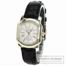 TIFFANY&Co.【ティファニー】 マーククーペ 腕時計 K18イエローゴールド/アリゲーター レディース