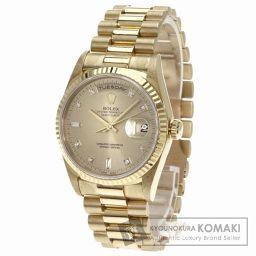 ROLEX【ロレックス】18238A デイデイト 10Pダイヤモンド 腕時計 OH済 k18YG/k18YG メ