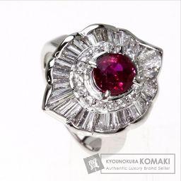SELECT JEWELRY【セレクトジュエリー】 ルビー/ダイヤモンド リング・指輪 プラチナPT900 レデ