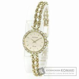 WALTHAM【ウォルサム】 ダイヤモンド 腕時計 K18イエローゴールド/GP レディース 【中古】
