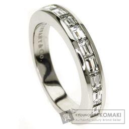 TIFFANY&Co.【ティファニー】 チャネル ハーフバケット ダイヤモンド リング・指輪 プラチナPT950