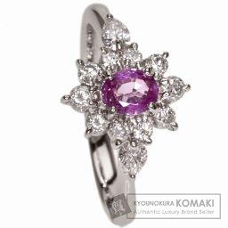 SELECT JEWELRY【セレクトジュエリー】 ピンクサファイア/ダイヤモンド リング・指輪 プラチナPT9