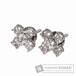 TIFFANY&Co.【ティファニー】 ダイヤモンド ピアス K18ホワイトゴールド レディース 【中古】