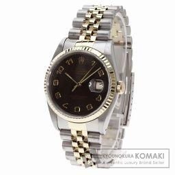 ROLEX【ロレックス】16233 デイトジャスト アラビア数字 腕時計 ステンレス/SSxK18YG メンズ