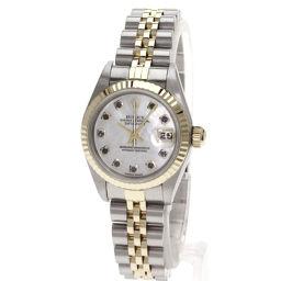 ロレックス 79173NG オイスタパーペチュアル デイトジャスト コンビ 10Pダイヤモンド 腕時計レディース
