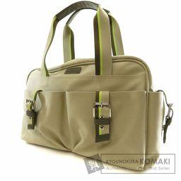 Longchamp【ロンシャン】 ベルトデザイン ハンドバッグ キャンバス レディース 【中古】