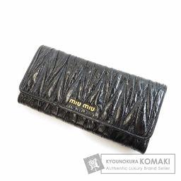 MIUMIU【ミュウミュウ】 ロゴデザイン 長財布(小銭入れあり) レザー レディース 【中古】
