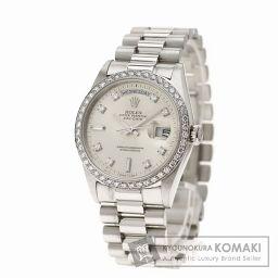 ROLEX【ロレックス】18346A デイデイト 腕時計 OH済 プラチナ/ダイヤモンド メンズ 【中古】