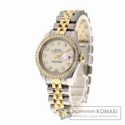 ROLEX【ロレックス】179383G デイトジャスト ベゼル 10Pダイヤモンド 腕時計 ステンレス/SSxK