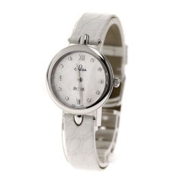 オメガ 424.13.27.60.55.001 デビル プレステージ デュードロップ 8Pダイヤモンド 腕時計レディース