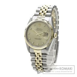 ROLEX【ロレックス】16233G デイトジャスト 10Pダイヤモンド 腕時計 OH済 ステンレス/K18YG