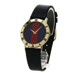 グッチ ウェビングライン 腕時計メンズ
