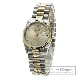 ROLEX【ロレックス】68279BIC デイトジャスト 10Pダイヤモンド 腕時計 K18ゴールド/SS ボー