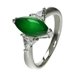 Select jewelry jade / diamond ring · ring ladies