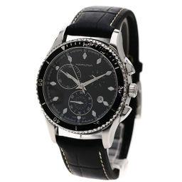HAMILTON ハミルトン  H375120 ジャズマスター シービュー クロノグラフ 腕時計 ステンレス/革