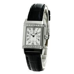 ジャガー・ルクルト 265.8.08  レベルソ ダイヤモンド 腕時計 OH済レディース