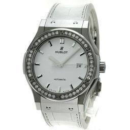 ウブロ 542.NE.2010.LR.1204 クラシック フュージョン ベゼルダイヤモンド 腕時計 OH済メンズ