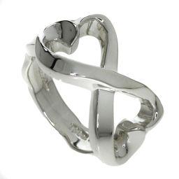 TIFFANY&Co.  Wラビングハート リング・指輪 シルバー レディース