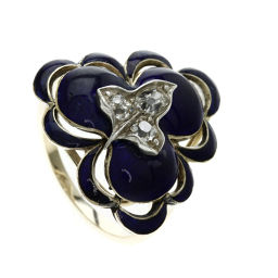 SELECT JEWELRY Cloisonne / Diamond Ring · Ring K18 Yellow Gold Women's