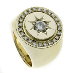 SELECT JEWELRY diamond stamp rings and rings K18 yellow gold men