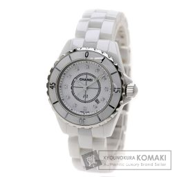 CHANEL  H1628 J12 33 12Pダイヤモンド 腕時計 セラミック レディース 【中古】【シャネル