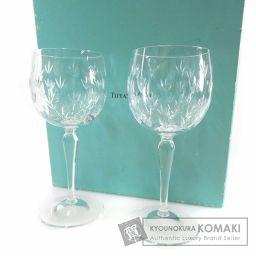 TIFFANY&Co.【ティファニー】 ペアワイングラス グラス クリスタル ユニセックス 【中古】