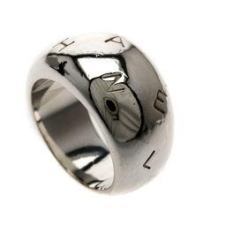 CHANEL シャネル  ロゴデザイン リング・指輪 シルバー レディース