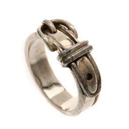 HERMES エルメス  ベルトデザイン リング・指輪 シルバー レディース
