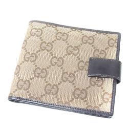 GUCCI  GG 二つ折り財布(小銭入れあり) キャンバス レディース