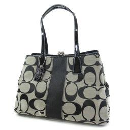 COACH F13533 Signature Tote Bag Canvas / Patent Leather Women's