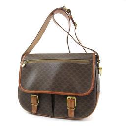 CELINE macadam pattern shoulder bag PVC ladies'