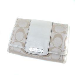 COACH  シグネチャー 二つ折り財布(小銭入れあり) キャンバス/レザー レディース